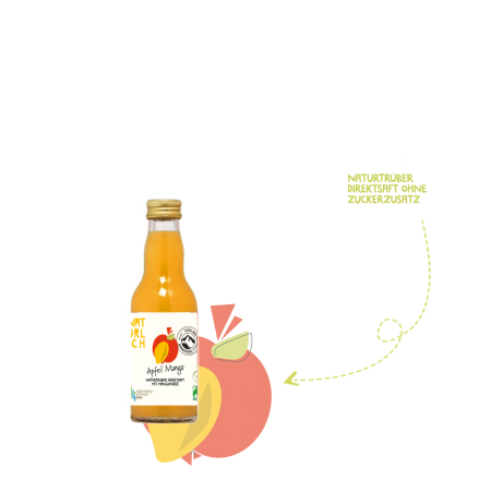 Natürlich 0,2l Direktsaft Apfel-Mango