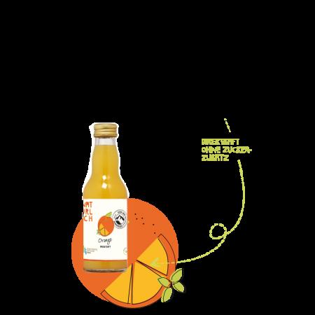 Natürlich 0,2l Orangensaft