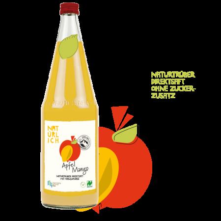 Natürlich 1l Direktsaft Apfel-Mango