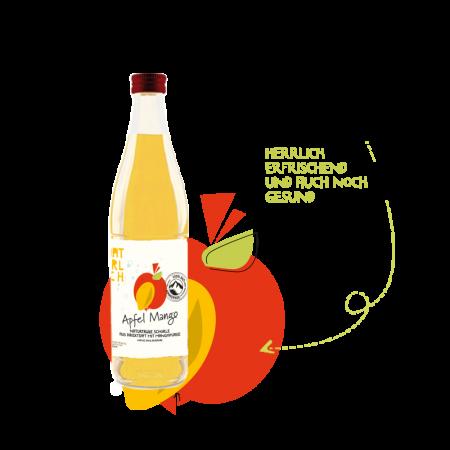 Natürlich 0,5l Schorle Apfel-Mango