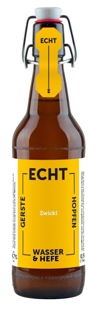 Echt Zwickl Bier - Vorderseite